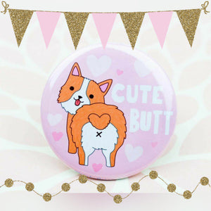 Cute Butt... Pembroke Welsh Corgi Lapel Pin
