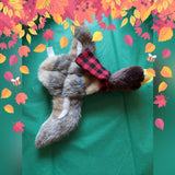 Mallard Duck or Squirrel Dog Plush Toy Stuffing Free Squeaker & Crinkle