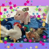 Pheasant, Pig or Chicken Dog Plush Toy with Tennis Ball Inside