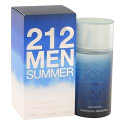212 Summer Eau De Toilette Spray (Limited Edition) By Carolina Herrera - For Men