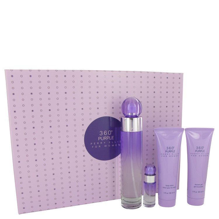 Perry Ellis 360 Purple Gift Set By Perry Ellis - For Women