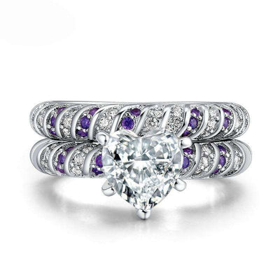 Bague Purple Heart - She-K.com