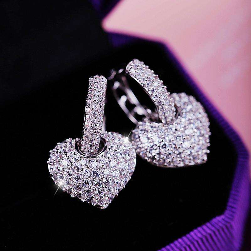 Boucles d'oreilles Attract Heart by Swarovski®