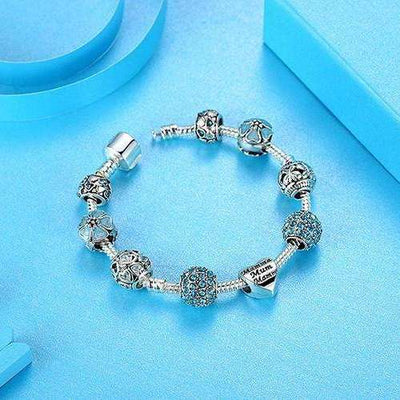 Bracelet Charms Blue Field - She-K.com