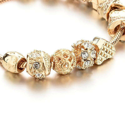 Bracelet Cristal Charms Golden Girl - She-K.com