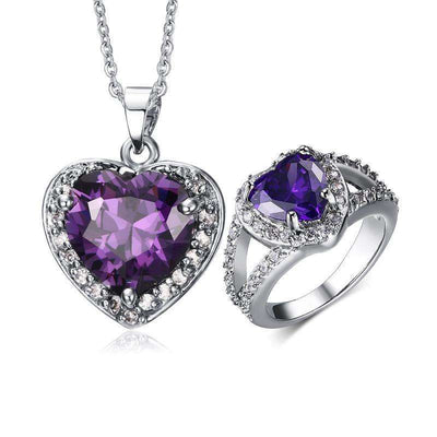 Parure Purple Heart
