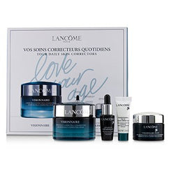 Lancome Visionnaire Set: Advanced Multi-Correcting Cream+Nuit Beauty Sleep Perfector+Eye Balm+Genifique Advanced Concentrate 4pcs