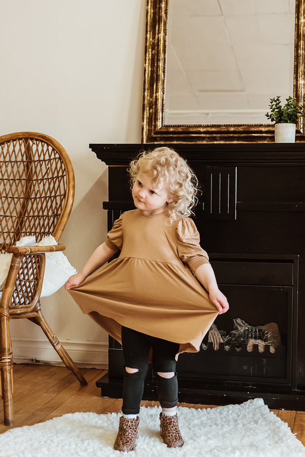 Children's puff sleeve dress