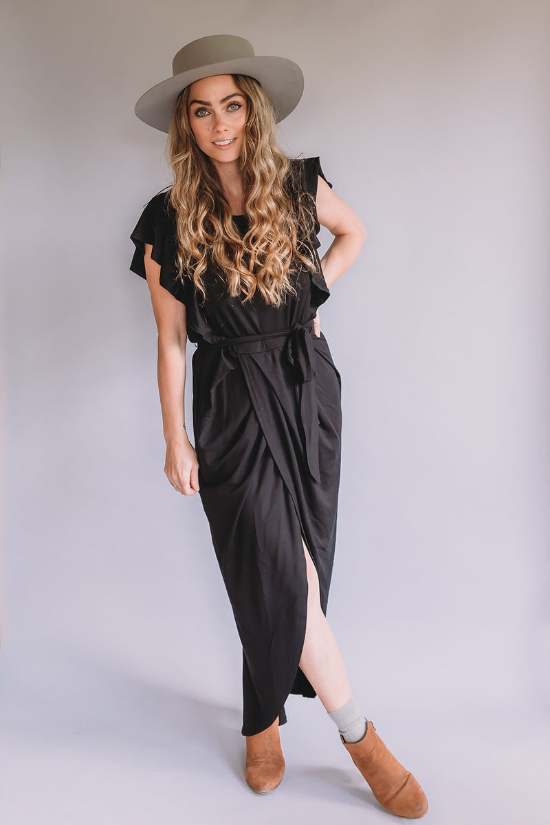Women's Flutter Sleeve Dress