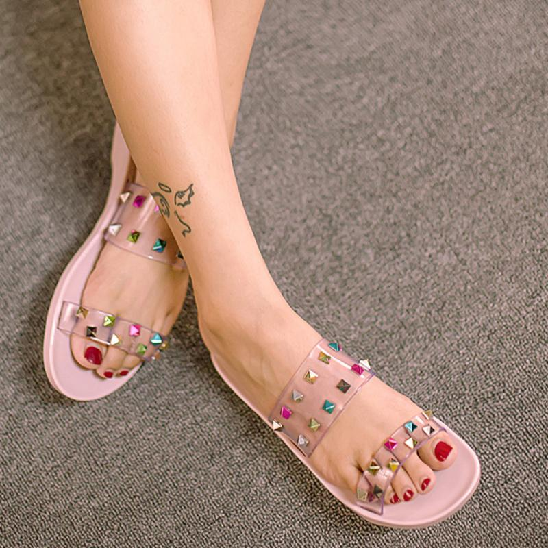 1dbefcaf9008 Jelly Sandals with Super Cute Rhinestone Embellishments – The ...