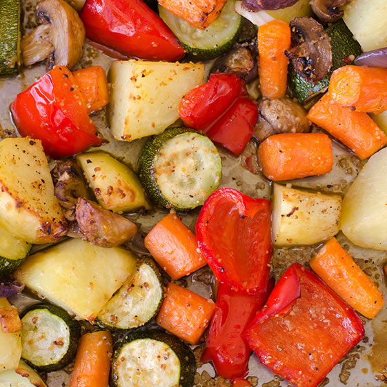Oven Roasted Carrots & Zucchinis