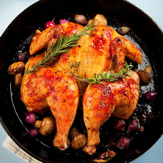 Roast Chicken With Herbed Mushrooms