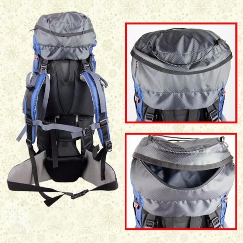 60L Professional Waterproof Backpack for Climbing, Camping, Hiking, and Mountaineering