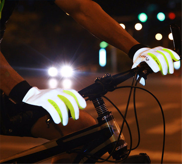 Reflective Cycling Gloves with Anti-slip Gel Palm & Touch Screen Fingertips