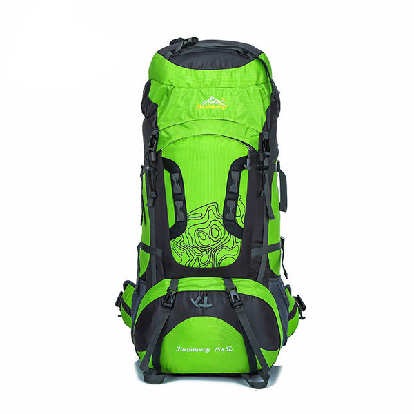 80L Large Unisex Waterproof Backpack for Camping, Hiking, and Climbing