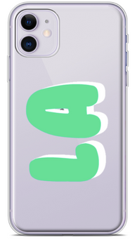 Mint Bubble Clear Phone Case