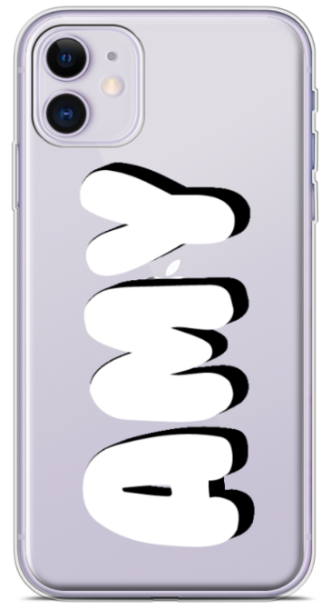 Mono Bubble Clear Phone Case