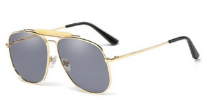 Alaia Gold & Grey Sunglasses