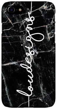 Black marble Shorelines Phone Case