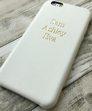 Ivory Leather Embossed Phone Case