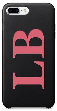 PU Leather Black & Pink Printed case