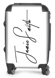 Signature Suitcase (White)