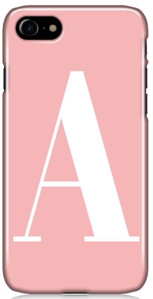 The Pink Initial Phone Case