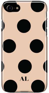 Nude and Black Polka Phone Case