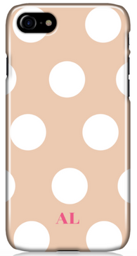 Nude Polka Phone Case