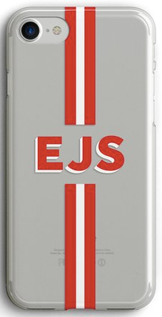 Clear Initial Stripe Phone Case