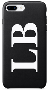 PU Leather Black & White Printed case
