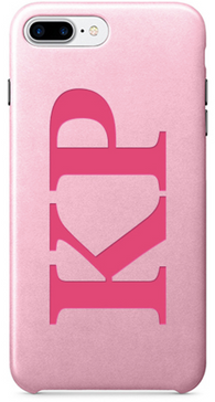 PU Leather Pink on Pink Printed case