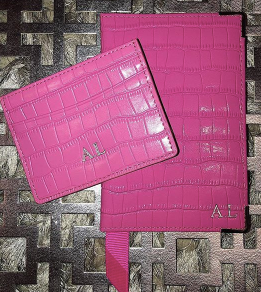 Pink Croc Passport Cover