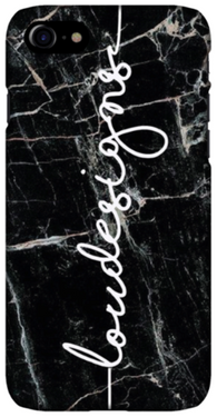 Shorelines Black Marble Phone Case