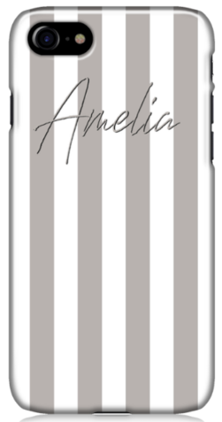 Grey Stripe Phone Case