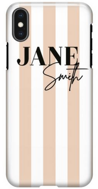 Nude Stripe Name Phone Case