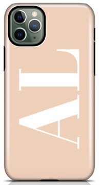 Nude Horizontal Initial Phone Case