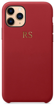 Red Leather Embossed Phone Case