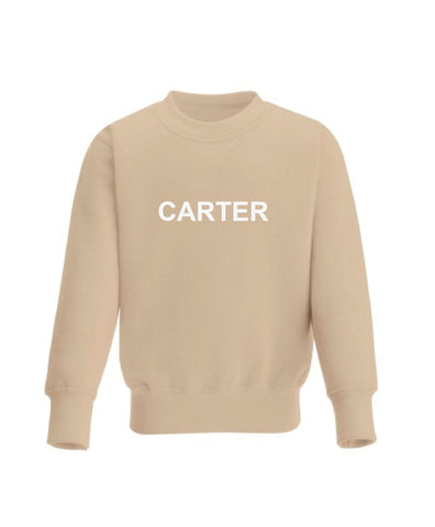 Little Name Sweatshirt - Oatmeal