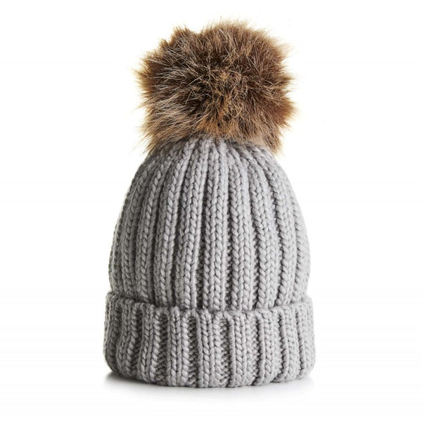 Little Bobble Hat - Grey
