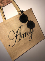 Hand Painted Fancy Beach Bags