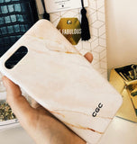 The Nude Marble Initial Phone Case