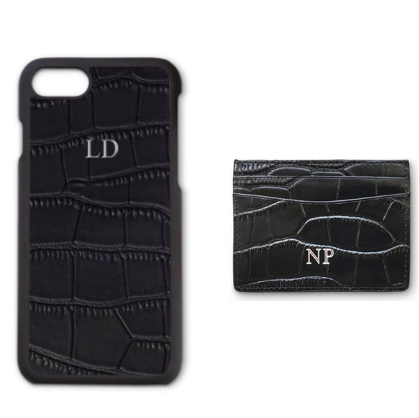Black Croc Phone Set