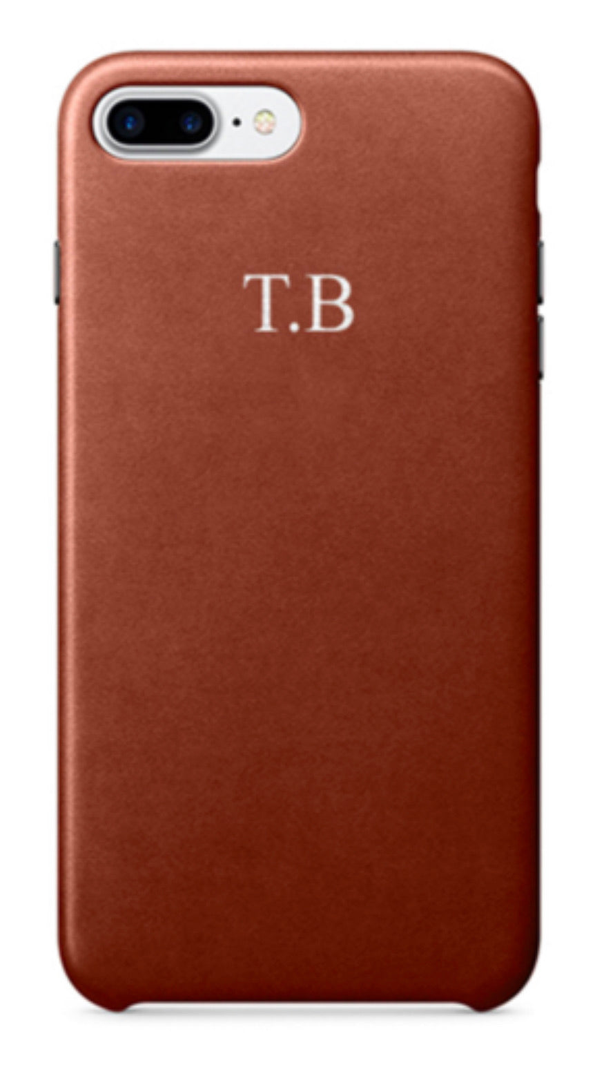 Genuine Leather Tan Phone Case