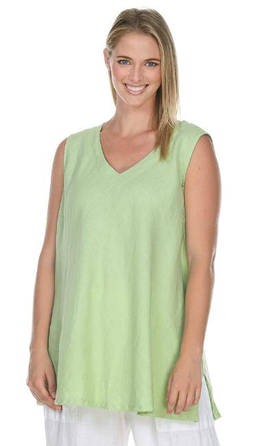 La Fixsun Sleeveless vNeck Bias-cut Top or Tank Swingy Lots of color and sizes  FBT802