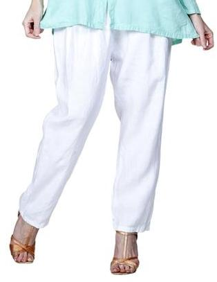 Match Point Linen Elastic Waist Pants with taper LP160 - Lori's Lovelies