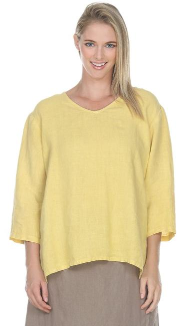 Match Point Vneck 3/4 Sleeve Medium Weight Lori's Favorite 2020 Basics and NEW colors!   S M L XL 1X 2X Plus LT10V