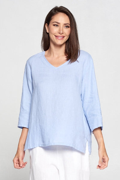 Match Point Vneck 3/4 Sleeve Medium Weight Lori's Favorite Basics and NEW colors! Plus Sizes 1X 2X  LT10V - Lori's Lovelies