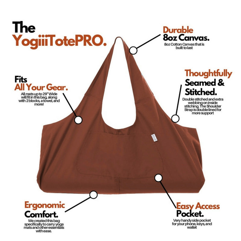 YogiiiTotePRO (Burnt Orange)