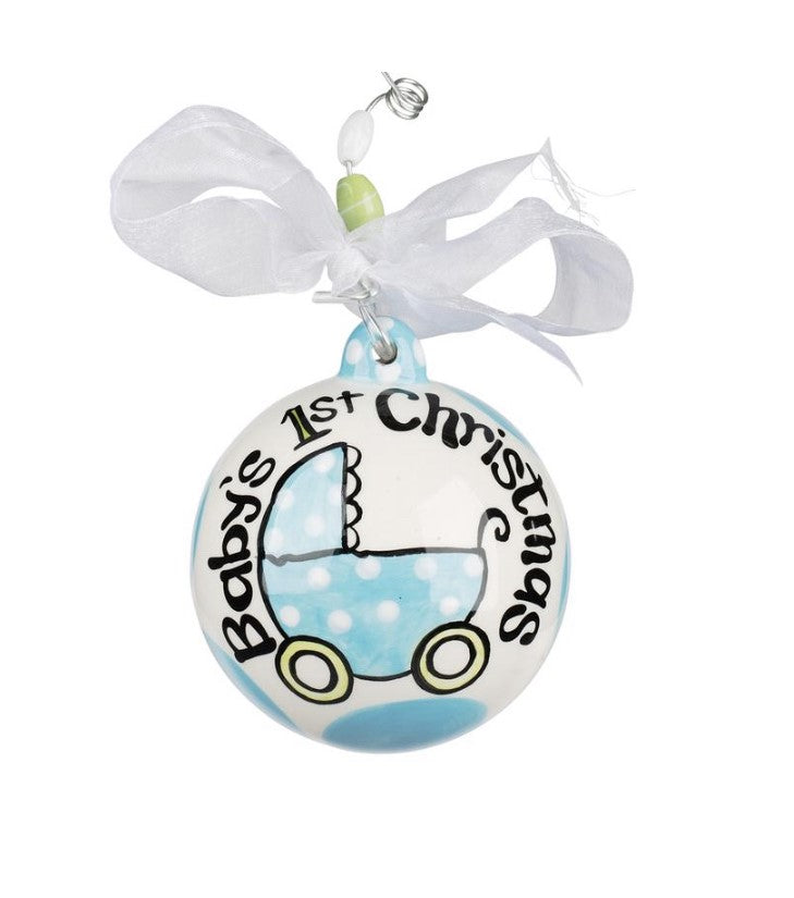 """BABY BOY'S FIRST CHRISTMAS"" ORNAMENT - Personalize this!"
